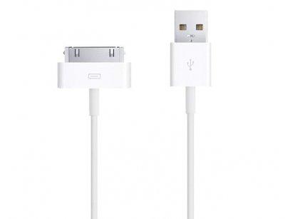 کابل اصلی شارژ آیفون Apple iphone 30 Pin to USB Cable 4/4s
