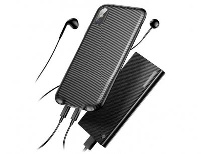 قاب محافظ و دو پورت لایتنینگ آیفون Baseus Audio Case Apple iPhone X
