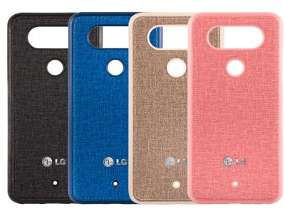 قاب محافظ طرح پارچه ای ال جی Protective Cover LG Q8