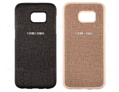 قاب محافظ طرح پارچه ای سامسونگ Protective Cover Samsung Galaxy S6 Edge