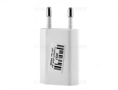 شارژر دیواری اصلی اپل نسخه اروپا Apple 2 Pin EU USB 5W Power Adapter