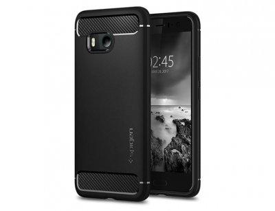 قاب محافظ ژله ای اسپیگن اچ تی سی Spigen Rugged Armor Case HTC U11