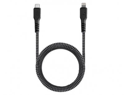 کابل شارژ و انتقال داده تایپ سی به لایتنینگ انرژیا Energea Fibratough Cable Type-C to Lightning 1.5M