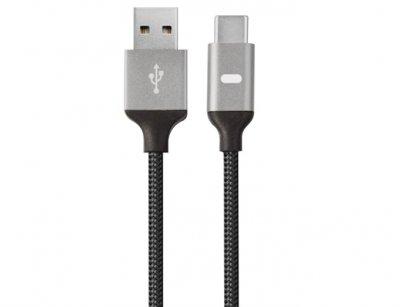 کابل شارژ سریع و انتقال داده تایپ-سی به یو اس بی انرژیا Energea Lumina Aluminium LED Cable USB-C To USB 1.5M