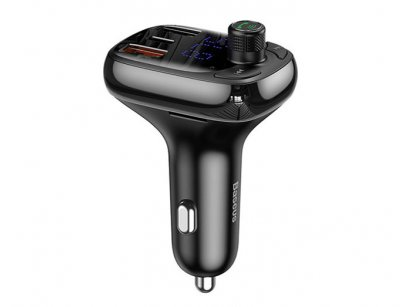 شارژر فندکی سریع با قابلیت پخش موسیقی و تماس بیسوس Baseus T-Typed Wireless MP3 Charger S-13