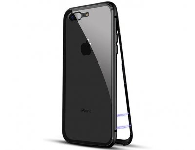 قاب مگنتی و محافظ صفحه شیشه ای آیفون Glass Magnetic 360 Case Apple iPhone 7 Plus/8 Plus