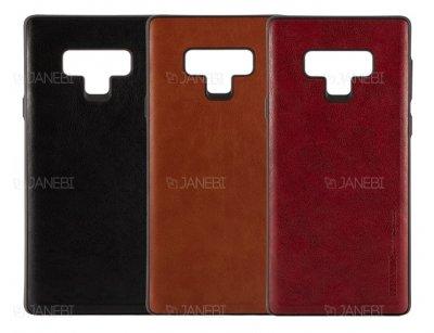 قاب طرح چرم سامسونگ Huanmin Leather Case Samsung Galaxy Note 9