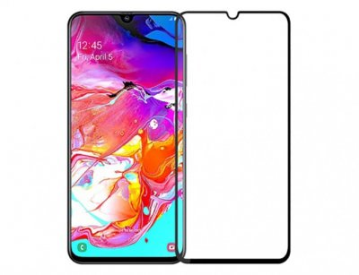 محافظ صفحه نمایش شیشه ای تمام صفحه سامسونگ D+ Full Glass Samsung Galaxy A70