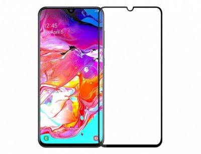 محافظ صفحه نمایش شیشه ای تمام چسب سامسونگ Full Glass Screen Protector Samsung Galaxy A70