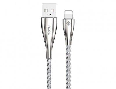 کابل شارژ و انتقال داده لایتنینگ فلزی توتو Totu King Kong Series || Lightning Cable 1m
