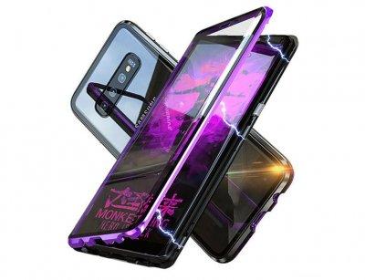 قاب مگنتی و محافظ صفحه شیشه ای سامسونگ Glass Magnetic 360 Case Samsung S10