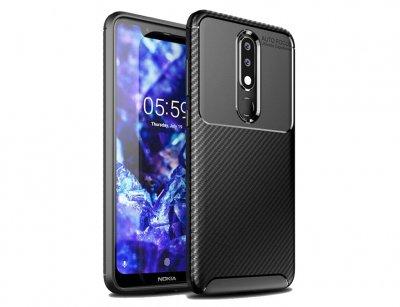 قاب ژله ای فیبر کربن نوکیا Becation Carbon Fiber Case Nokia 5.1 Plus/X5