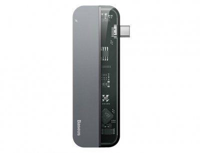 هاب آداپتور تایپ سی بیسوس Baseus Transparent Type-C HUB Adapter