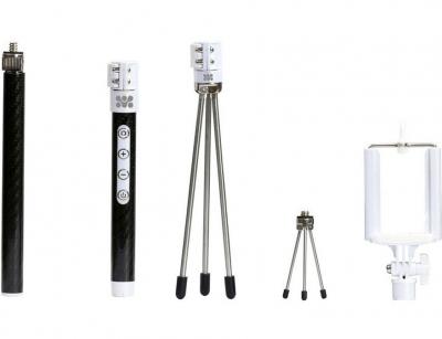 سه پایه و مونوپاد گوشی پرومیت Promate snapShot Carbon Fiber Monopod Kit with Built-in Wireless Shutter