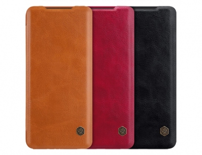 کیف چرمی نیلکین سامسونگ Nillkin Qin Leather Case Samsung Galaxy S20