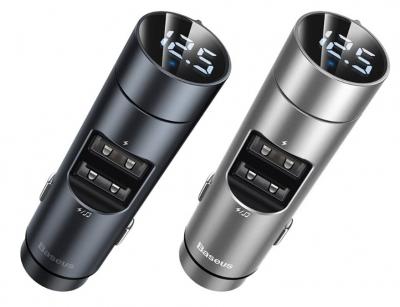شارژر فندکی و اف ام پلیر بیسوس Baseus Energy Column Car Charger Wireless MP3