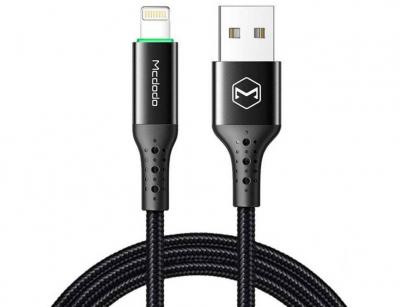 کابل شارژ هوشمند لایتنینگ مک دودو Mcdodo Auto Power Off Lightninig Cable 1.8m CA-741