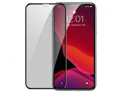محافظ صفحه نمایش حریم شخصی و محافظ اسپیکر دوتایی بیسوس آیفون Baseus Privacy Glass iPhone X/XS/11 Pro