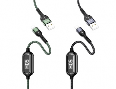 کابل لایتنینگ تایمردار یوسامز Usams S-SJ423 U48 Lightning Digital Display Timing Cable 1.2m