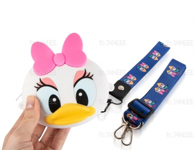 کیف سیلیکونی کوچک رودوشی طرح اردک Duck Little Bag