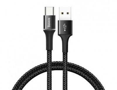 کابل شارژ سریع و انتقال داده تایپ سی بیسوس Baseus Halo Type-C Cable 0.5m