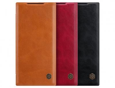 کیف چرمی نیلکین سامسونگ Nillkin Qin Leather Case Samsung Galaxy Note 20 Ultra
