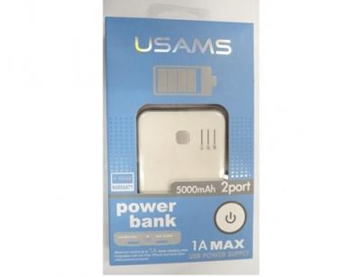 باطری اکسترنال 5000 میلی آمپر USAMS power bank 5000mAH