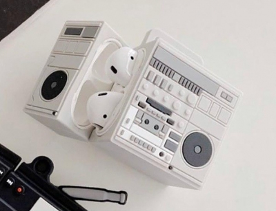 کاور محافظ سیلیکونی ایرپاد طرح رادیو Radio Silicone Case Apple Airpods