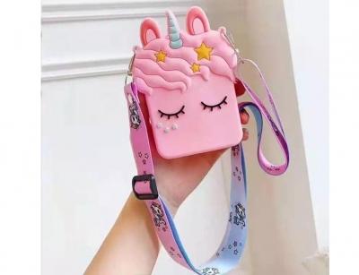کیف سیلیکونی کوچک رودوشی طرح اسب تک شاخ ستاره دار Unicorn Little Bag