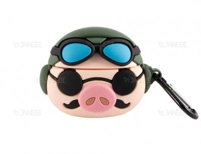 کاور محافظ سیلیکونی ایرپادپرو طرح خوک خلبان Pilot Pig Silicone Case Apple Airpods Pro