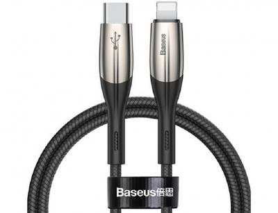 کابل شارژ و انتقال داده سریع تایپ سی به لایتنینگ بیسوس Baseus Horizontal PD Flash Charge Type-C to Lightning Cable 0.5M