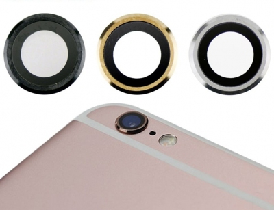 شیشه لنز دوربین گوشی آیفون با فریم فلزی iPhone 6 Plus/6S Plus Camera Lens