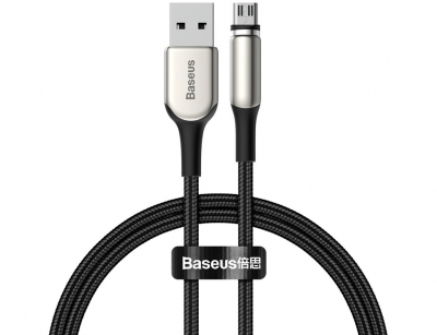 کابل شارژ و انتقال داده آهنربایی میکرو یو اس بی بیسوس Baseus Zinc Magnetic  MicroUSB Cable 1M
