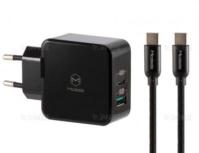 شارژر دیواری سریع و کابل شارژ تایپ سی مک دودو Mcdodo Dual Quick Charge 30W CH-692
