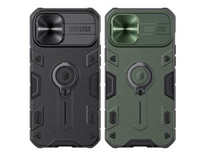 قاب محافظ حلقه دار نیلکین آیفون ۱۲ پرومکس- Nillkin iPhone 12 Pro Max CamShield Armor Case