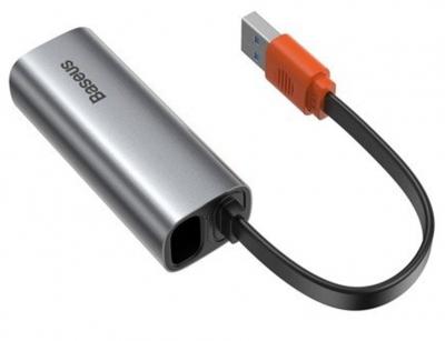 هاب آداپتور بیسوس Baseus Steel Cannon Series USB A Gigabit LAN Adapter