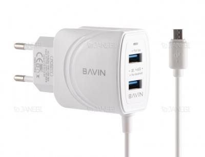شارژر دیواری و کابل میکرو یو اس بی باوین Bavin PC521Y Micro USB Charger