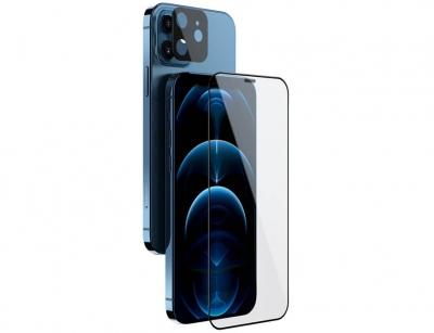 محافظ صفحه نمایش شیشه ای و محافظ لنز نیلکین آیفون Nillkin Amazing 2in1 HD Full Glass iPhone 12 mini