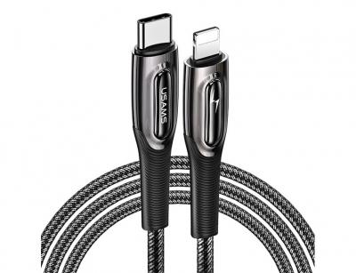 کابل شارژ سریع تایپ سی به لایتنینگ یوسامز Usams SJ496 Type-C To Lightning PD 20W Cable 1.2m