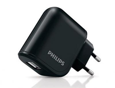 شارژر دیواری 2.1A فیلیپس Philips با دو پورت USB