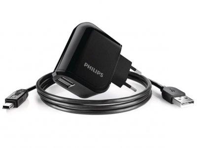 شارژر دیواری فیلیپس با دو پورت به همراه کابل micro-USB