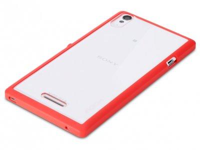 قاب محافظ شیشه ای Sony Xperia T3 مارک Rock