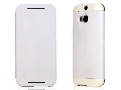 کیف چرمی مدل01 HTC One M8 مارک ROCK