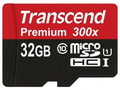 رم میکرو اسدی 32 گیگابایت Transcend Class 10 Premium 300X