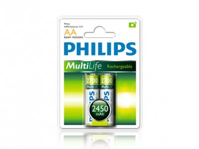 باتری قلمی قابل شارژ 2450 میلی آمپر مارک Philips