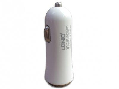 شارژر فندکی 3.4 آمپر LDNIO با دو پورت USB مدل DL-C27