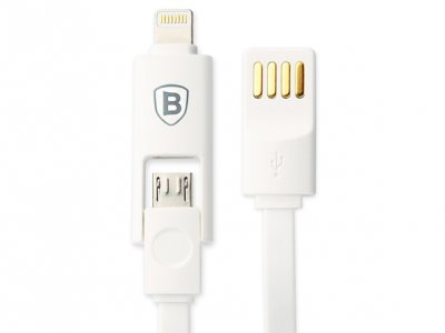 کابل دو پورت Micro USB و Lightning مارک Baseus