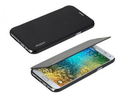 کیف چرمی Samsung Galaxy E7 مارک Rock