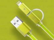 کابل دو پورت Micro USB و Lightning مارک Remax Aurora