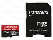 رم میکرو اسدی 32 گیگابایت Transcend Class 10 Premium 400X